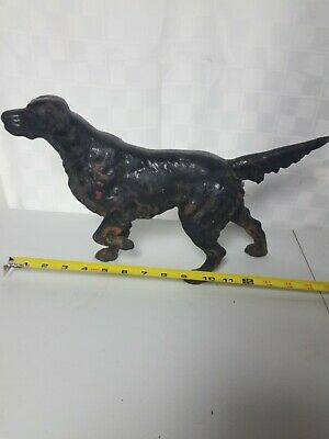 Antique Hubley? Cast Iron Irish Setter Hunting Dog Art Statue