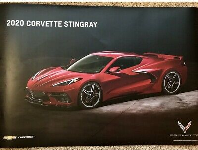 """2020 C8 Corvette Stingray Poster - GM Promo Giveaway - 2 sided 24 x 36"""""""