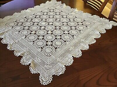 Vintage Crochet Square Suppercloth used Great Condition (Lot 2)