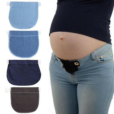 Women Maternity Pregnancy Adjustable Elastic Waist Extender Pants Waistband Belt