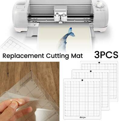 """3Pcs Cutting Mat Replacement 12"""" Measuring Grid Adhesive for Silhouette Cameo"""