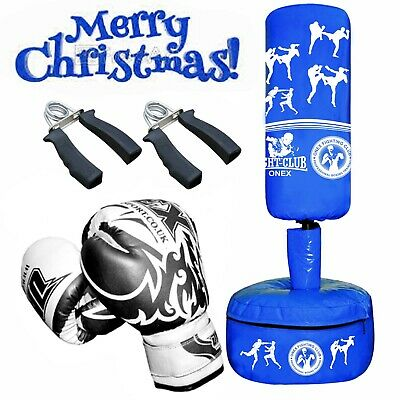 Junior Freestanding Filled Punch Bag Heavy Duty Kids Boxing MMA Gym Training Set