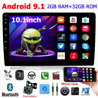 Android 9.1 2+32G 10.1inch Car Stereo MP5 Player FM Radio GPS Navigation+Camera