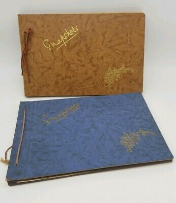 2 x Antique Photography Albums.  Snapshots. Circa 1930. Mostly Blank