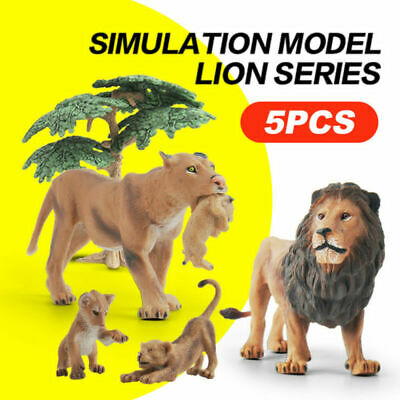 Bundle of Male Female Lions Wild Animal Toy Model Figurine Miniature Collectible