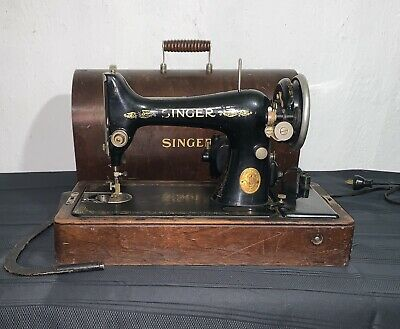Vintage Singer Sewing Machine AB794636 Not Working, for Repair or Parts - As Is