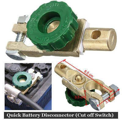 Auto Battery Link Terminal Cut Off Disconnect Master Kill Shut Truck Switch New
