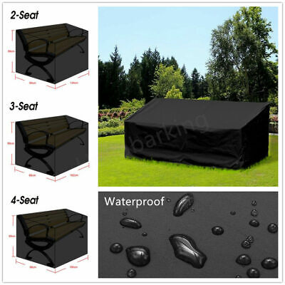 Outdoor Seat Covers Garden Long Bench Cover Waterproof Heavy Duty 2 3 4 Seater