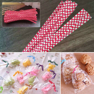 Colorful Dots Ties Wire Bag Fasteners Sealing Cake