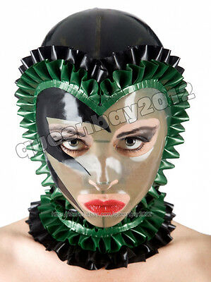 Neu!!100% Latex Rubber Maske Mask Hood Catsuit Suit Anzug Party Kostüm Halloween