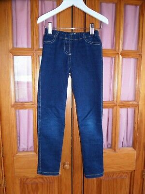 FABULOUS Girl's MINI BODEN Denim Jeggings Indigo Blue Age 8 Perfect for NOW