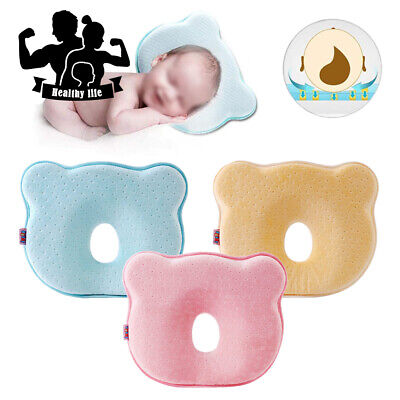 Newborn Baby Cot Pillow Prevent Flat Head Sleeping Support Memory Foam Cushion