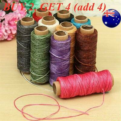 30m/roll Waxed Thread Cotton Sewing Line For Leather Craft Hand Stitching DIY