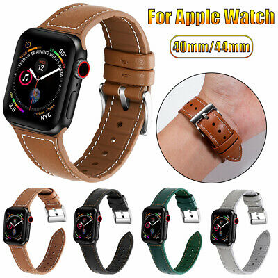 For Apple Watch Series 5 4 3 2 1 Genuine Leather Band Strap iWatch 38 42 40 44mm