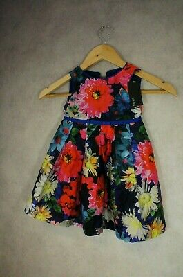 Baby Girls 9-12 Months Marks & Spencer Autograph Floral Dress NEW