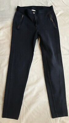 J Crew Crewcuts Girls Age 12 Leggings / Trousers x 2 Black And Navy Blue