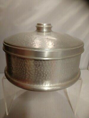 Vintage ww2 Aluminium Cake Tin Hammered Decoration 1940's Kitchenalia