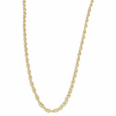 """9Carat Gold Rope Prince of Wales Fine Lightweight Chain 16/"""" 18/""""  0.59 to 0.6g"""