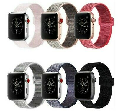 Nylon Woven Loop Strap iWatch Apple Watch Sport Band 38 42 for Series 5 4 3 2 1