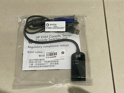 Hp 748740-001 Kvm Usb Interface Adapter Cable Af628A 520-916-502 753494-001