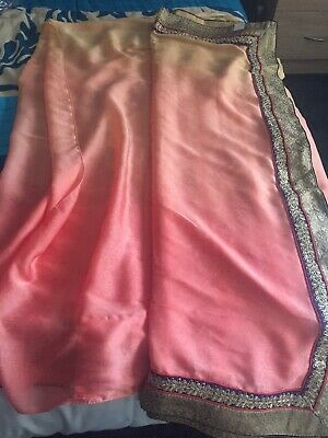 Pinky Peach Indian Saree