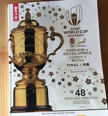 Rugby World Cup 2019 FINAL Programme England v South Africa