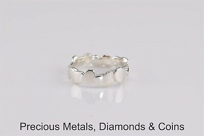 Tiffany & Co. Sterling Silver Paloma Picasso Crown of Hearts Band Ring 925 Sz: 5