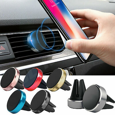 In Car Magnetic Phone Holder Mobile Fit Air Vent Universal Mount Various Colours