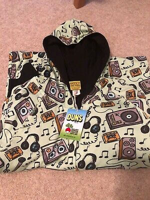 NWT Duns music hooded all-in-one, size 134/140