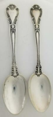 """Chantilly by Gorham Lot of 2 Sterling Silver 5-7/8"""" Teaspoons No Mon c1950 62.2G"""