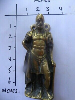 large vintage brass door knocker a Knight of Old