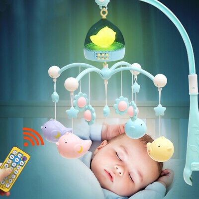 Baby Rattle Toy Early Learning Crib Bed Bell Plastic Hanging Musical Rotating