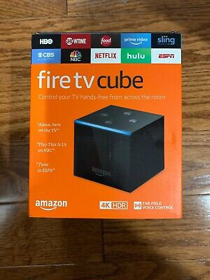 Fire TV Cube Hands-Free with Alexa and 4K Ultra HD Streaming Media Player 1stgen