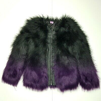 ZF6 Girls Stunning Winter Fluffy Faux Fur Long Sleeve Jacket  KIDS 10/11 USED