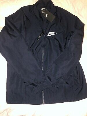 Brand New Nike Mens Woven Zip Top Large