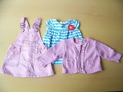 BABY GIRL CLOTHES 3-6 months BUNDLE  2 Dresses + Cardigan Mothercare , NEXT