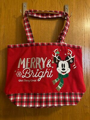 Disney Parks 2018 Merry & Bright Holiday Tote Bag. Gift with Qualifying Purchase
