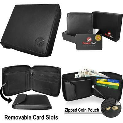 Roamlite Men'S Designer Wallet In Rfid Nfc Blocking Leather With A Separate Remo