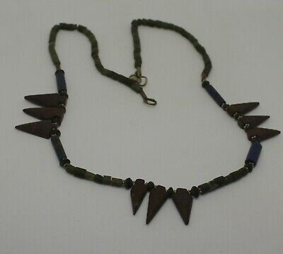 Ancient Carved Mixed Bead Necklace - 0211