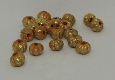 20 X Post Medieval Gold Beads - 2112