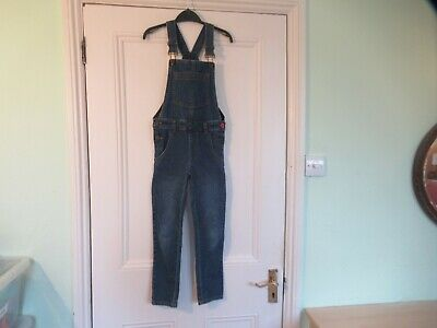 7-8 yrs: JOULES blue denim dungarees: Good condition: Combine postage