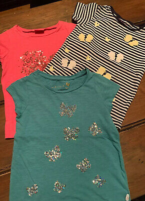 Bundle Of 3 Girls Tshirts Tops 5-6 Years Next Nutmeg
