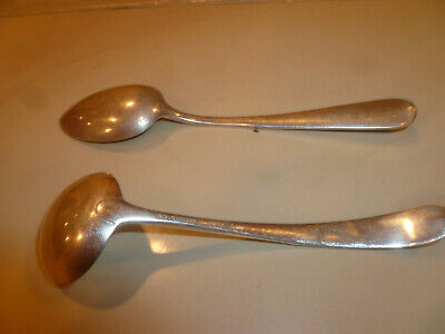 lot (2)  S. KIRK & Son Sterling Silver Gravy Ladle and spoon