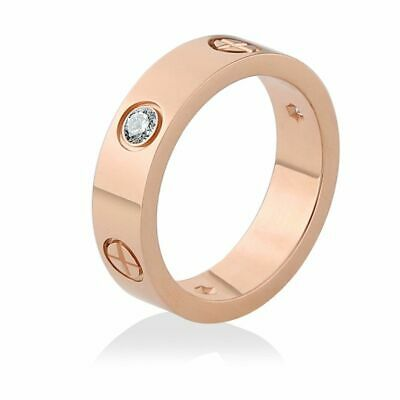 Stainless Steel Ring S With Stone Crystal Women Men Love Screw Screwdriver Cross