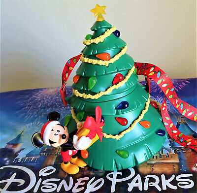 Disney Parks Mickey Light Up Christmas Tree Popcorn Bucket Holidays 2019 New
