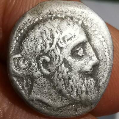 Old Beautiful Solid Silver king Roman Unique Stunning Coin  # 47