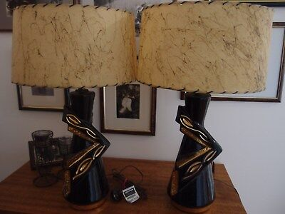 Rare 1950s Divine American Lamps with original shades