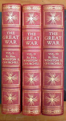 The Great War by Winston Churchill (3 volume set)