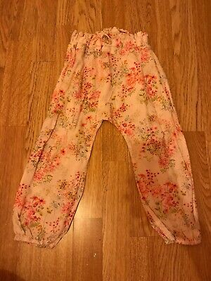 Pink Floral Next Trouser Age 3 Years
