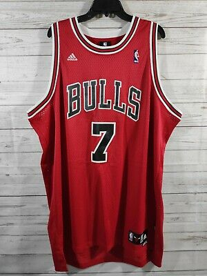 VINTAGE ADIDAS BEN Gordon Chicago Bulls Authentic Sewn Red